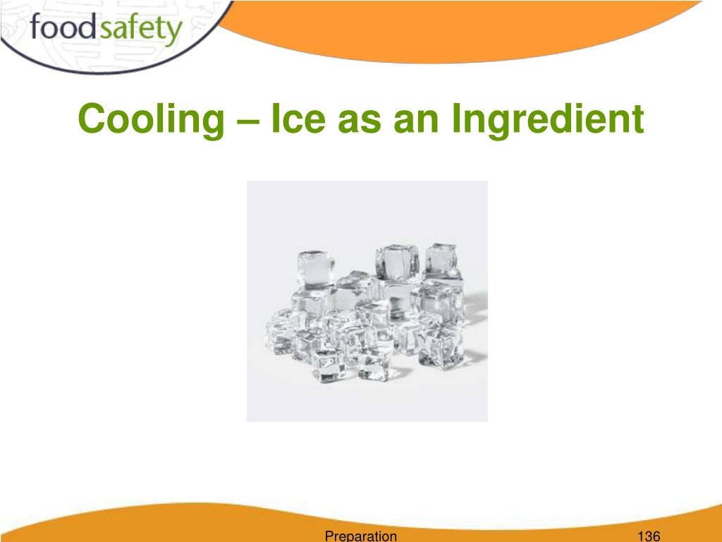 Cooling – Ice as an Ingredient