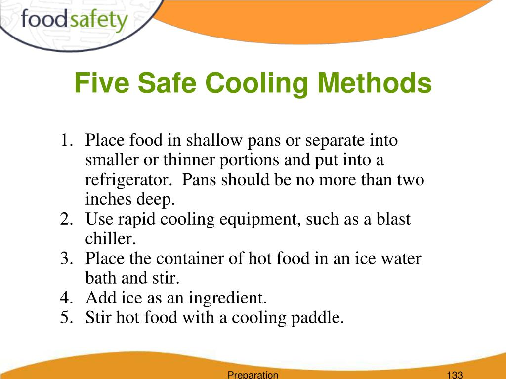 Five Safe Cooling Methods