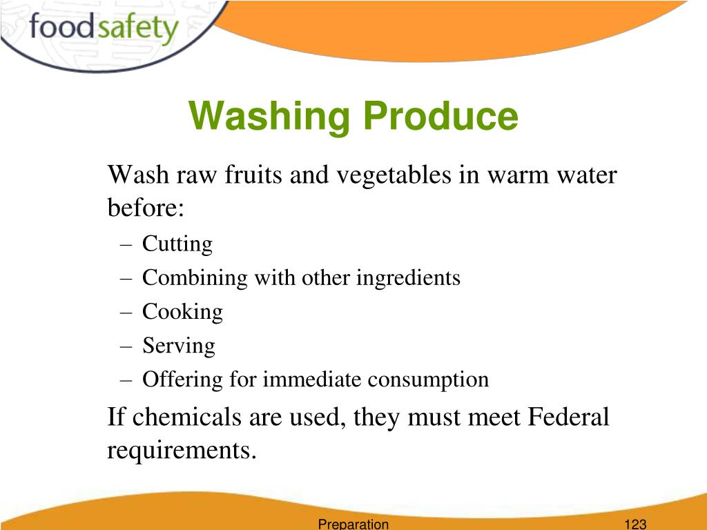 Washing Produce