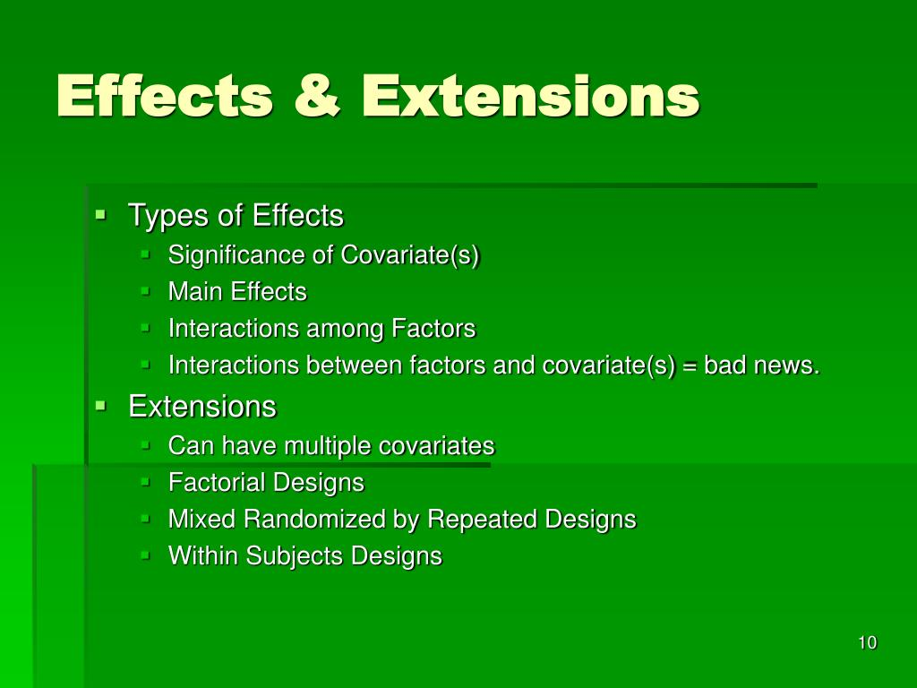 Effects & Extensions