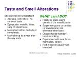 taste and smell alterations