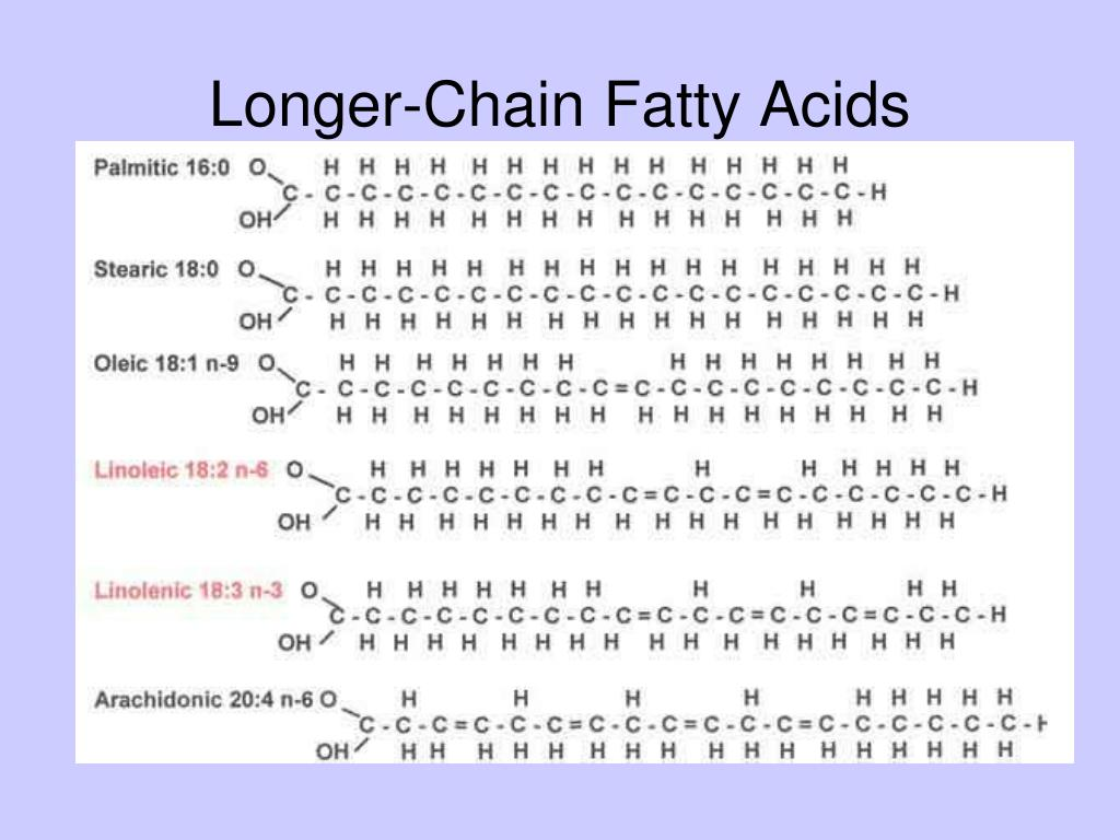 Longer-Chain Fatty Acids
