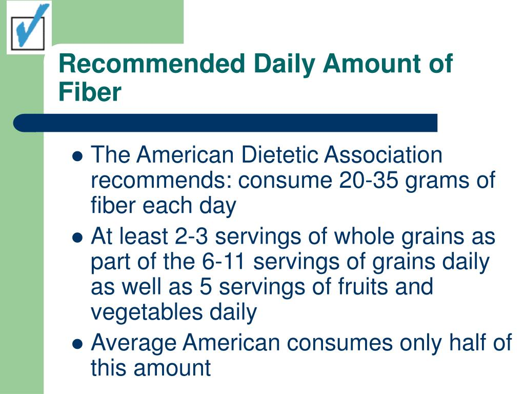 Recommended Daily Amount of Fiber