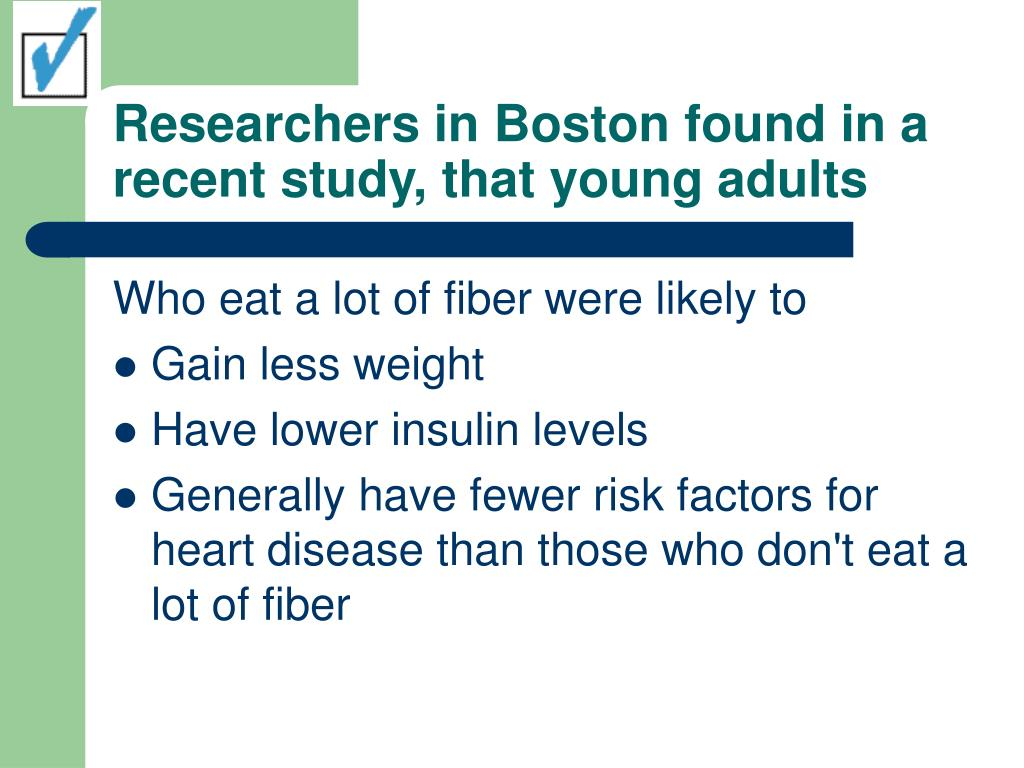 Researchers in Boston found in a recent study, that young adults