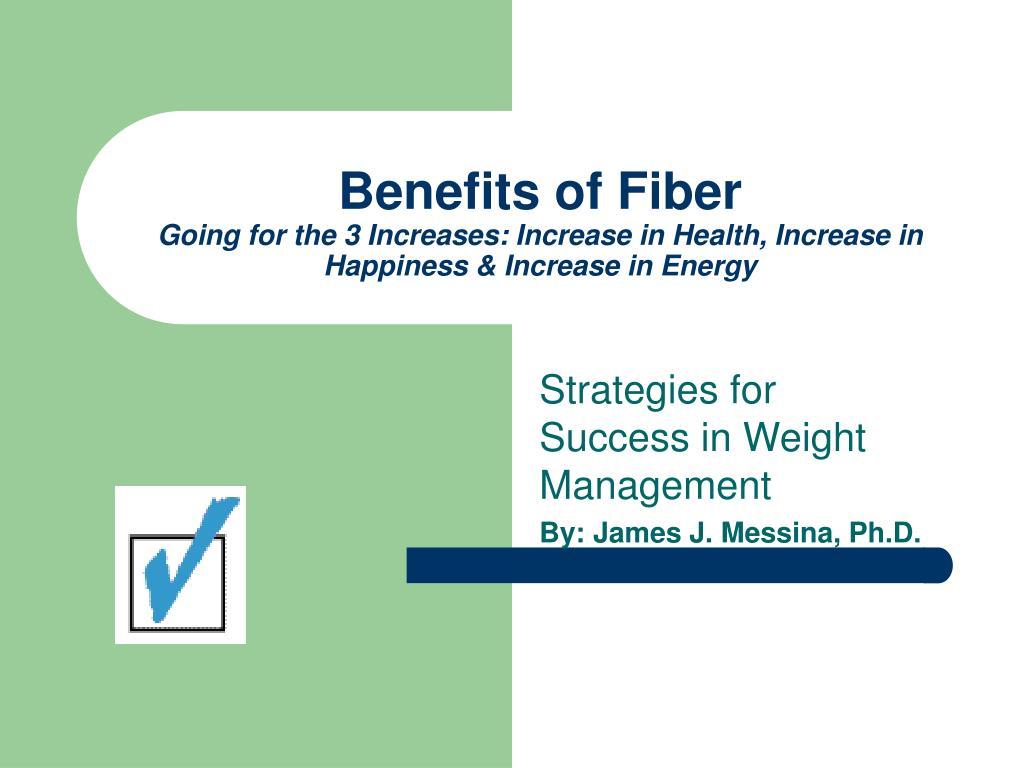 Benefits of Fiber