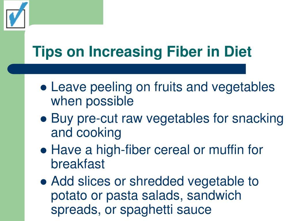 Tips on Increasing Fiber in Diet
