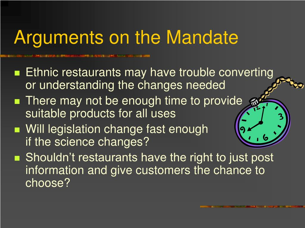 Arguments on the Mandate