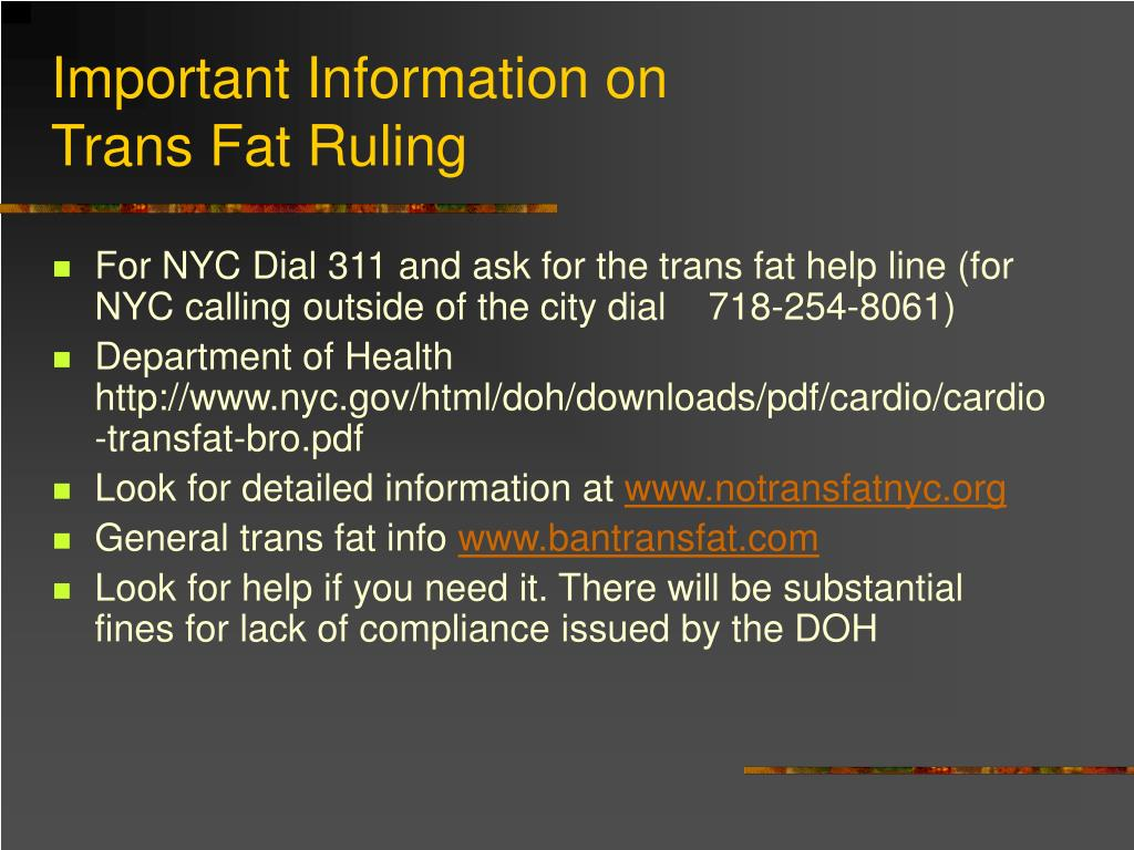 Important Information on