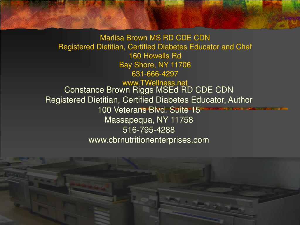 Marlisa Brown MS RD CDE CDN