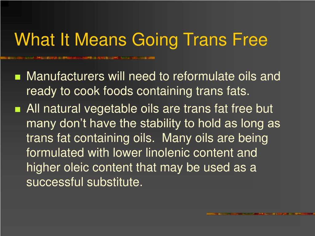 What It Means Going Trans Free