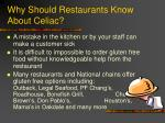 why should restaurants know about celiac
