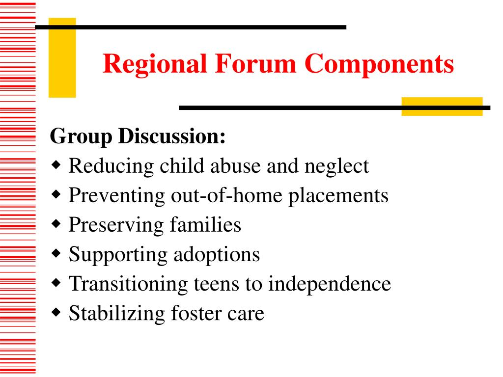 Regional Forum Components