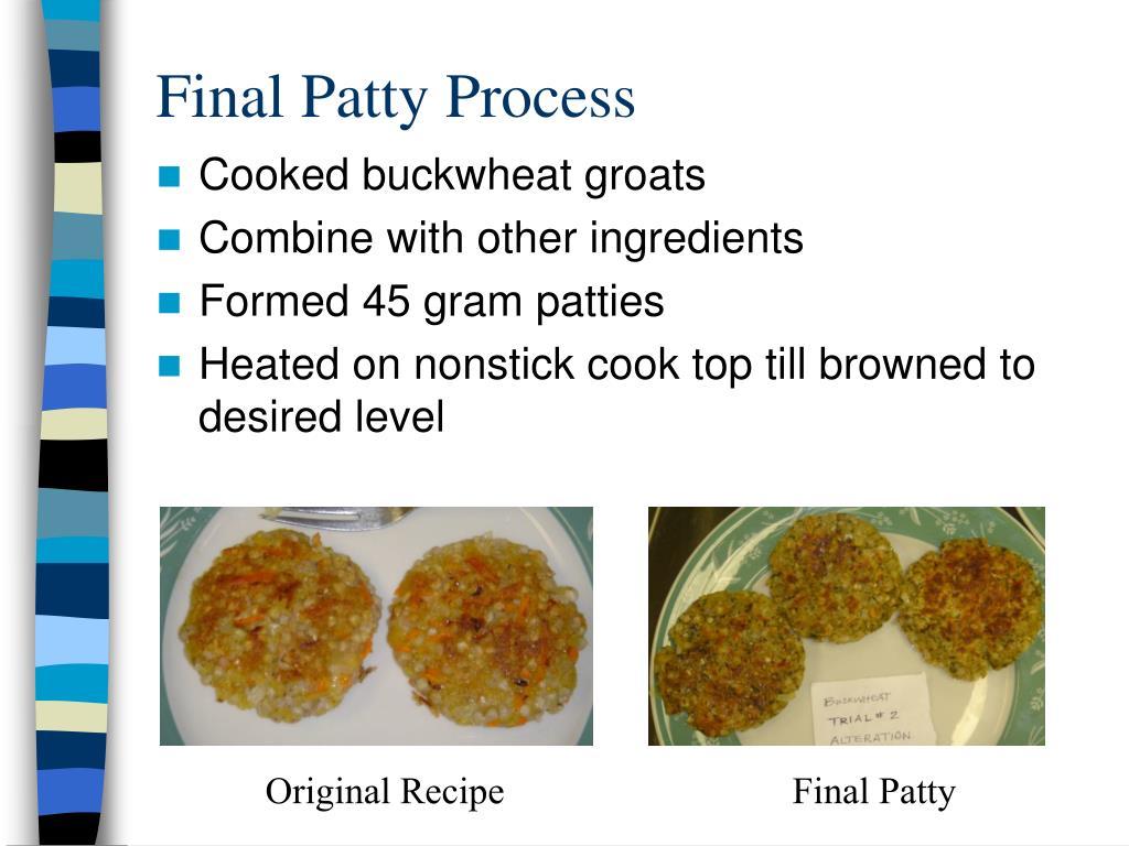 Final Patty Process