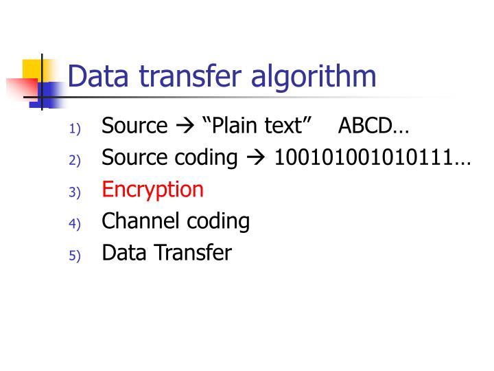 Data transfer algorithm