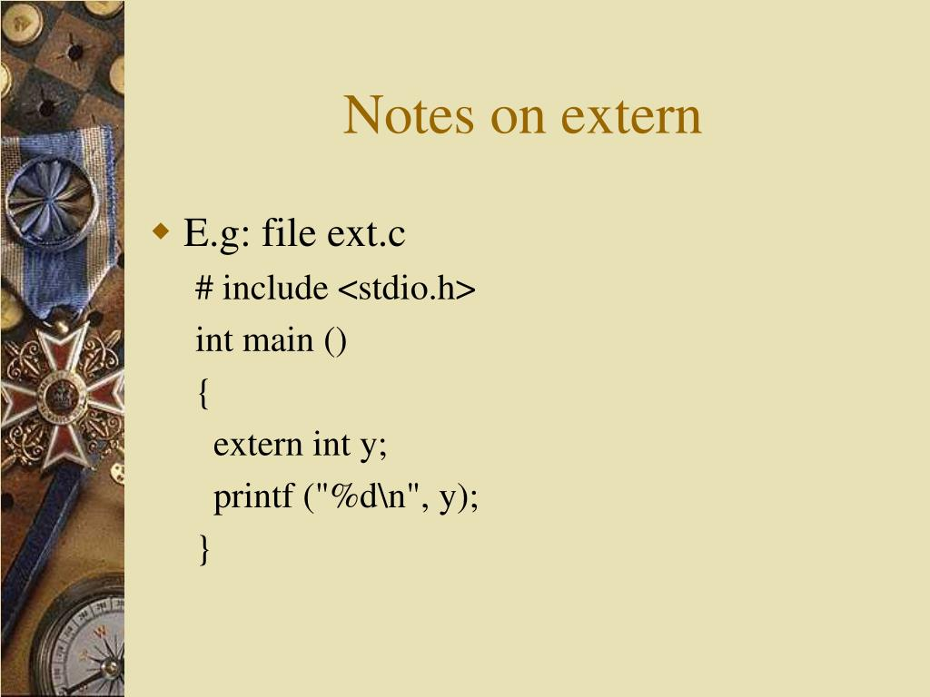 Notes on extern
