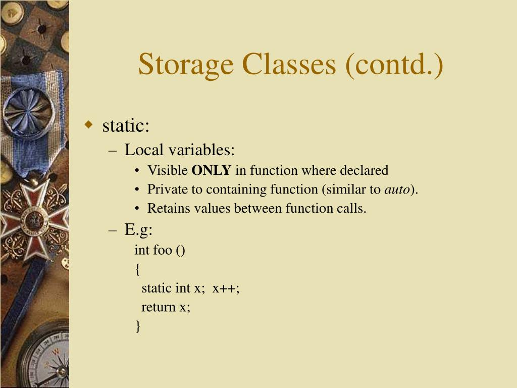 Storage Classes (contd.)