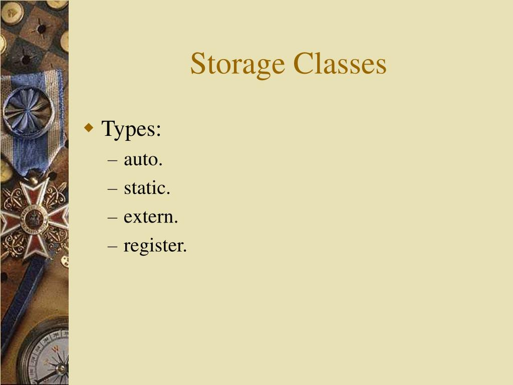 Storage Classes
