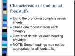 characteristics of traditional foodstuffs
