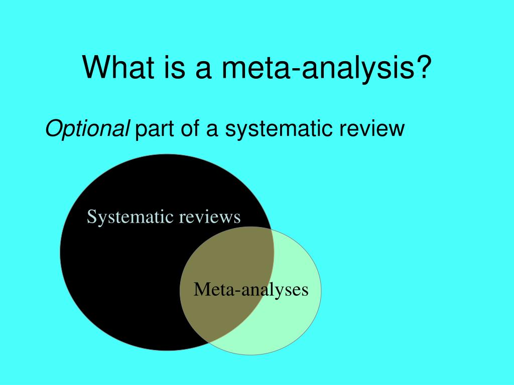 What is a meta-analysis?
