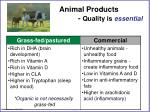 animal products quality is essential
