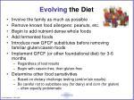 evolving the diet