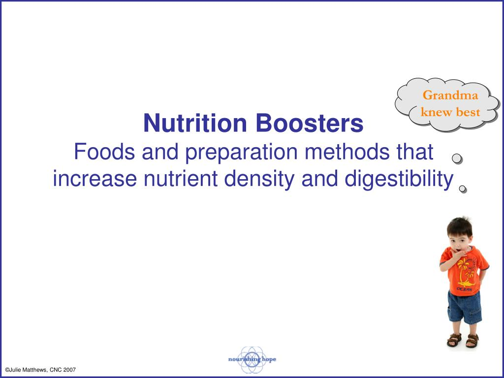 Nutrition Boosters