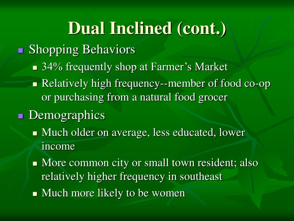 Dual Inclined (cont.)