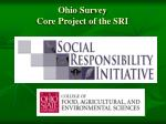 ohio survey core project of the sri