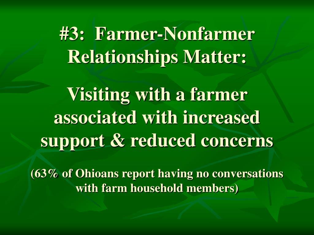 #3:  Farmer-Nonfarmer Relationships Matter:
