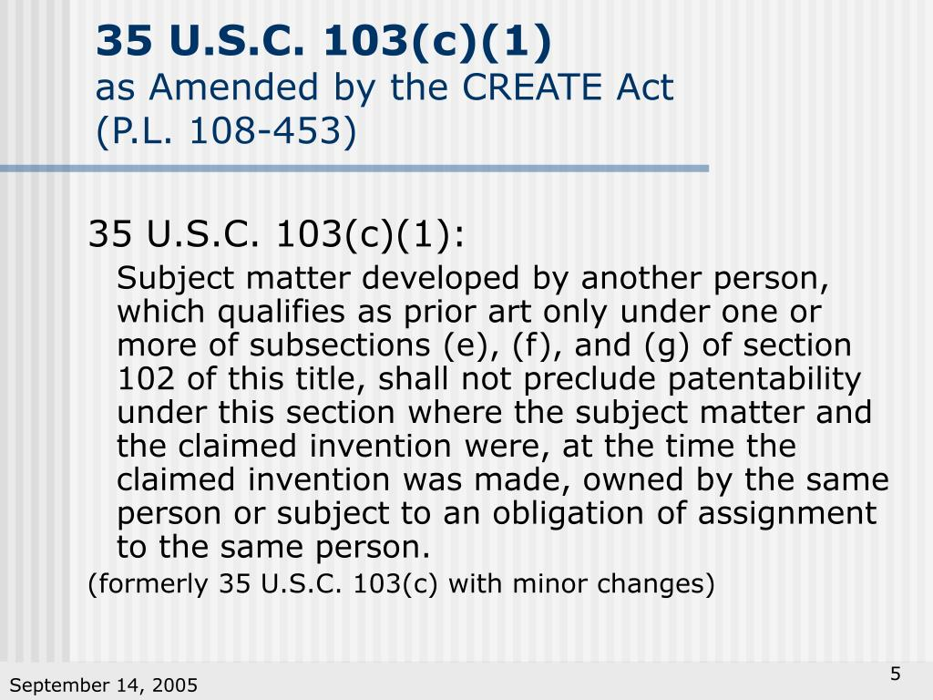 35 U.S.C. 103(c)(1)