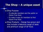the shop a unique asset