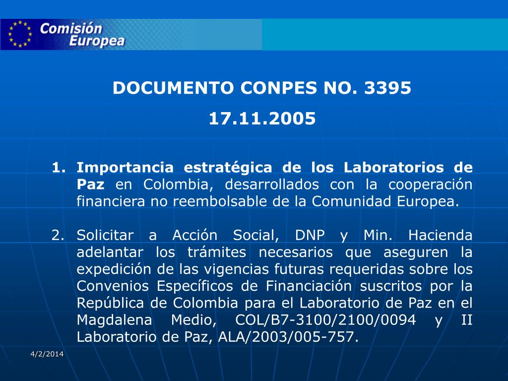DOCUMENTO CONPES NO. 3395