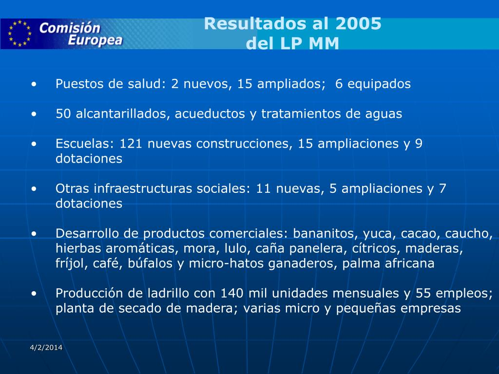 Resultados al 2005
