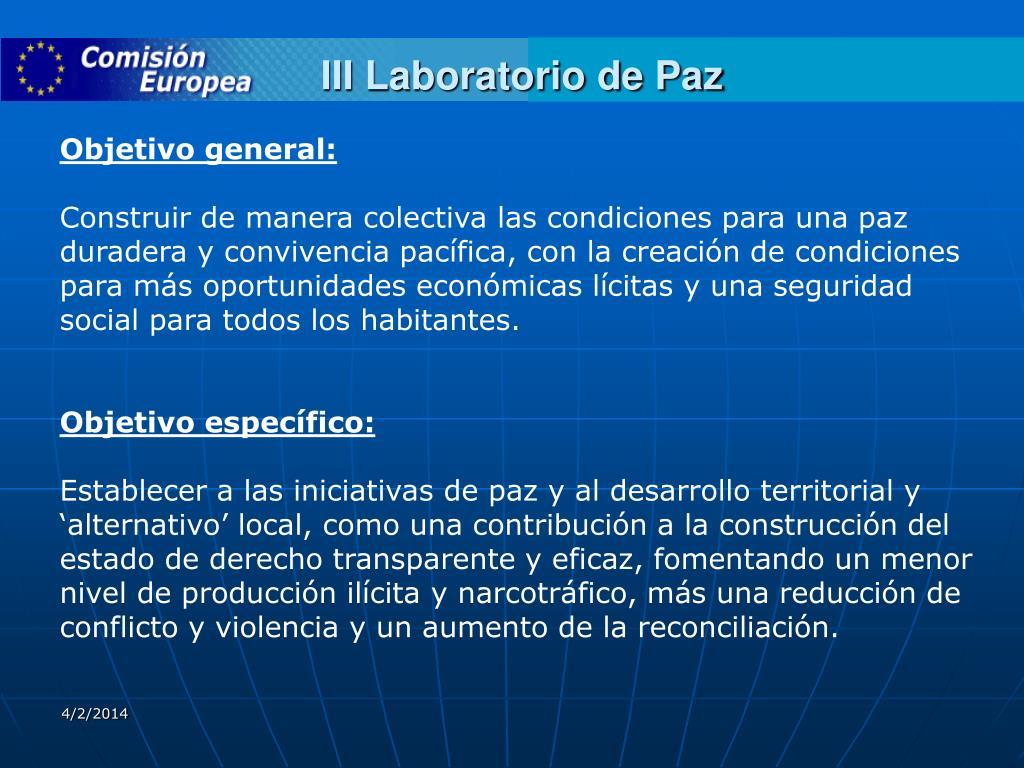 III Laboratorio de Paz
