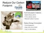 reduce our carbon footprint