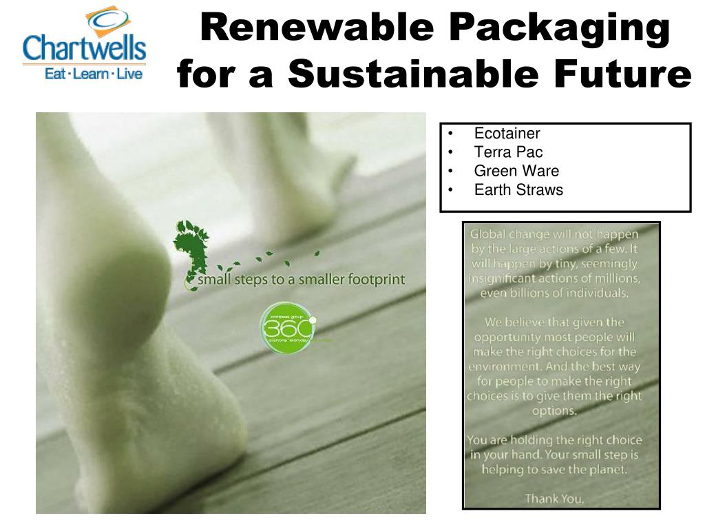 Renewable Packaging for a Sustainable Future