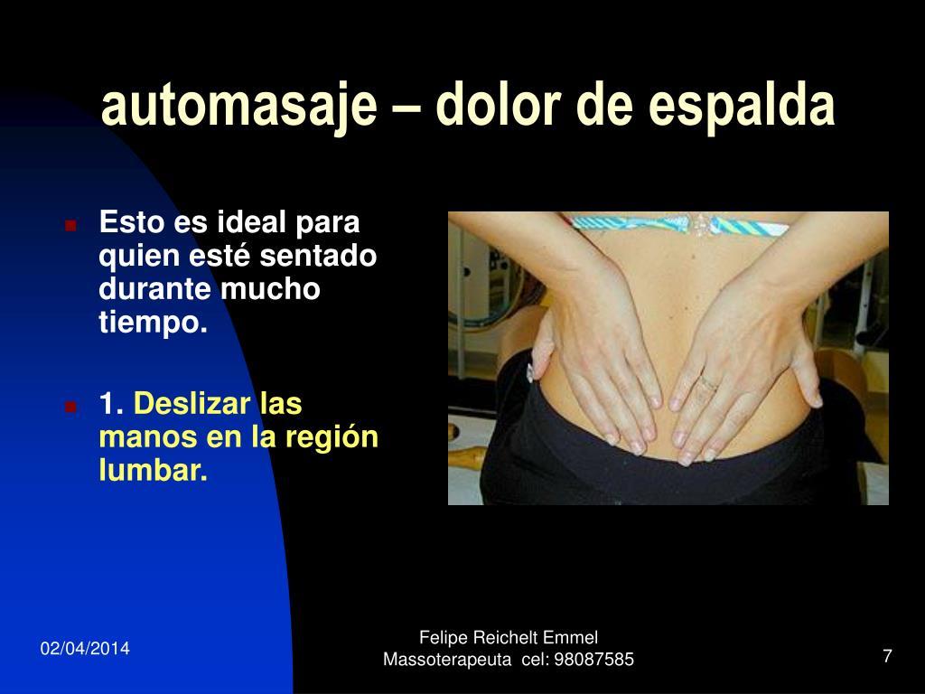 automasaje – dolor de espalda