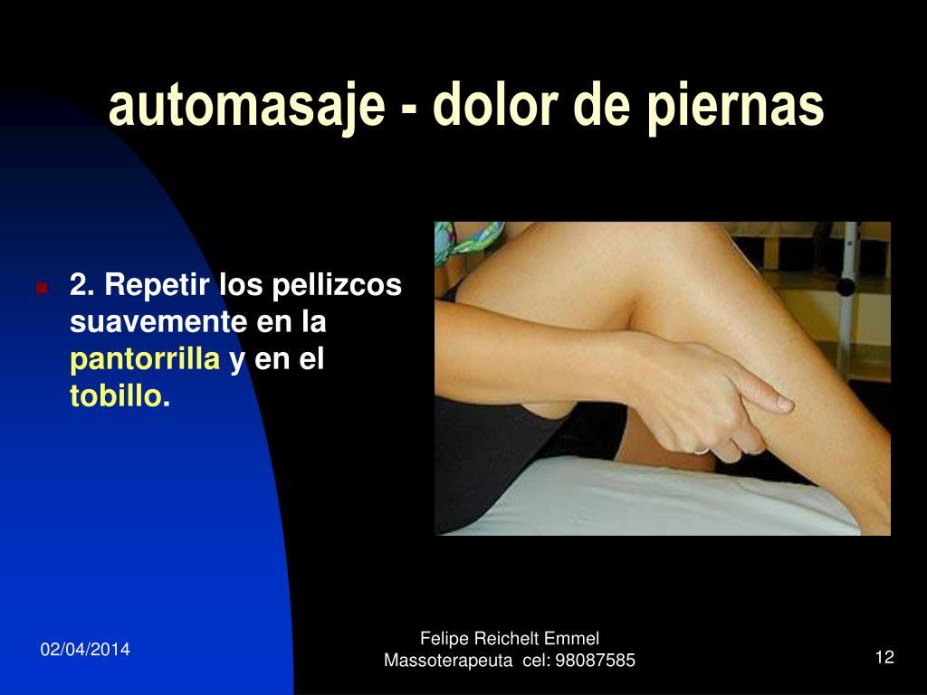 automasaje - dolor de piernas