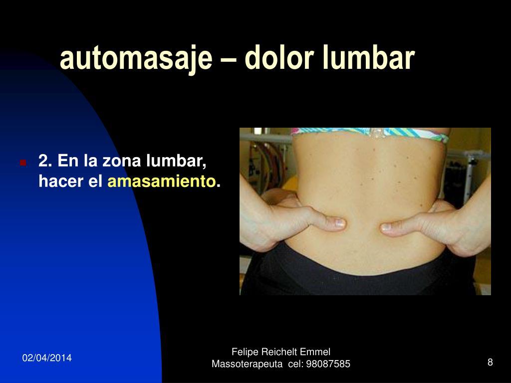 automasaje – dolor lumbar