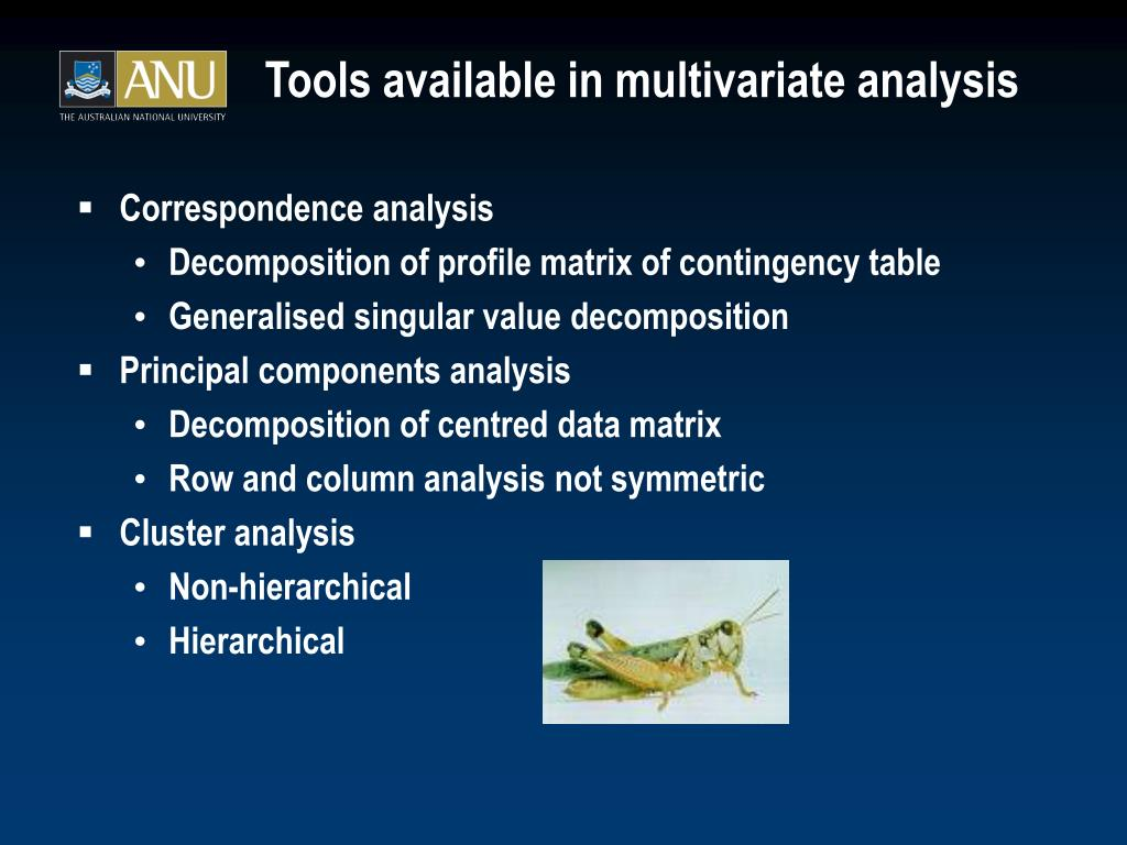 multivariate analysis As the name implies, multivariate regression is a technique that estimates a single regression model with multiple outcome variables and one or more predictor variables.