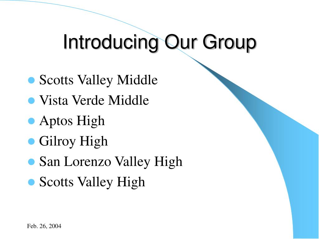 Introducing Our Group
