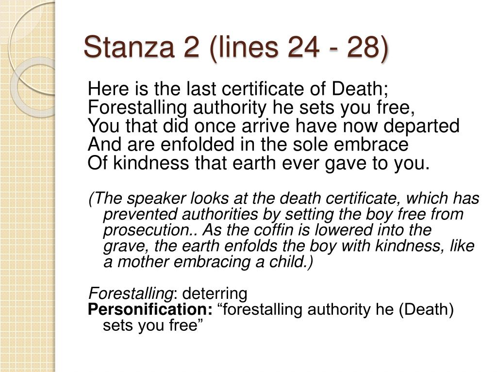 Stanza 2 (lines 24 - 28)
