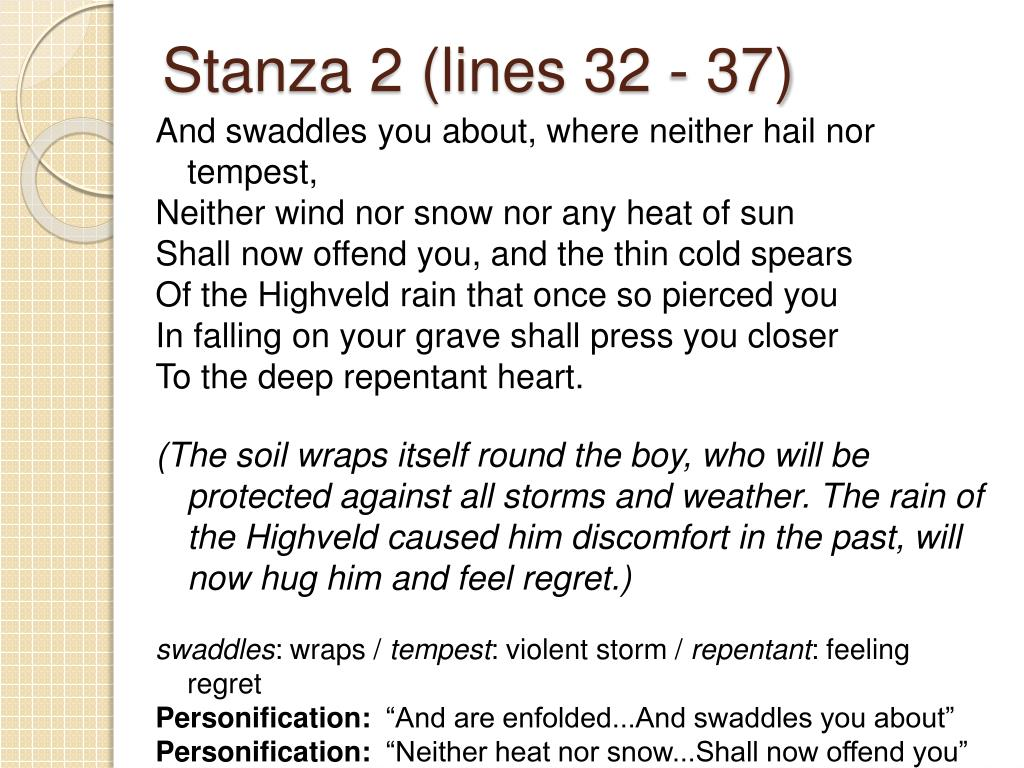 Stanza 2 (lines 32 - 37)