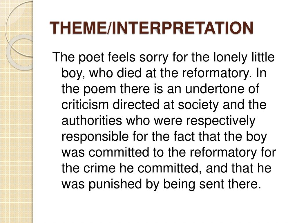 THEME/INTERPRETATION