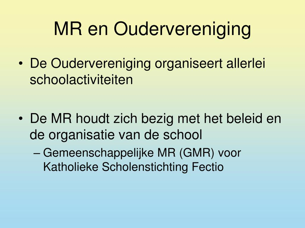 MR en Oudervereniging