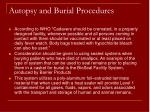 autopsy and burial procedures