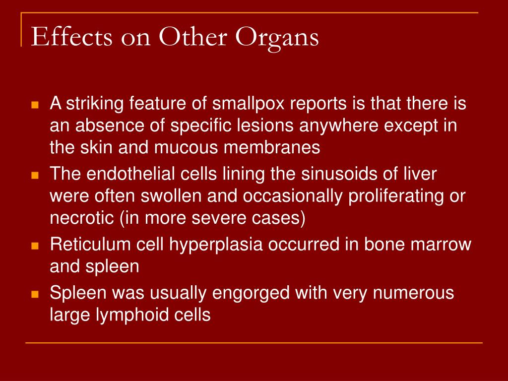 Effects on Other Organs
