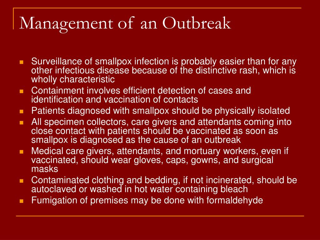 Management of an Outbreak