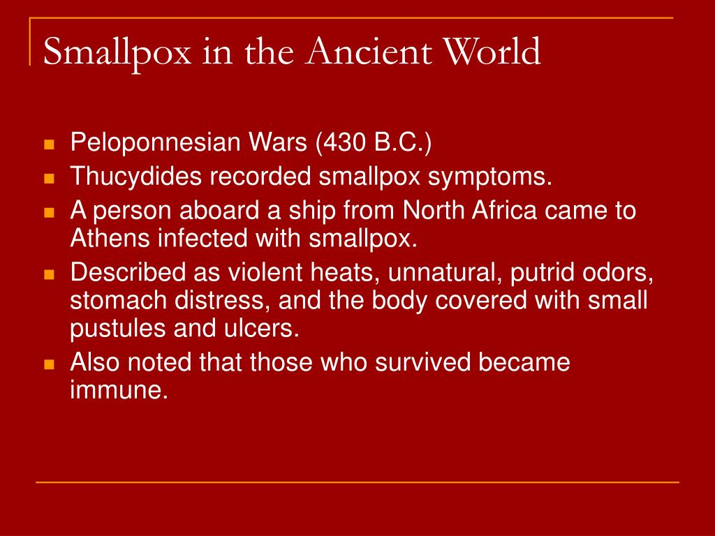 Smallpox in the Ancient World