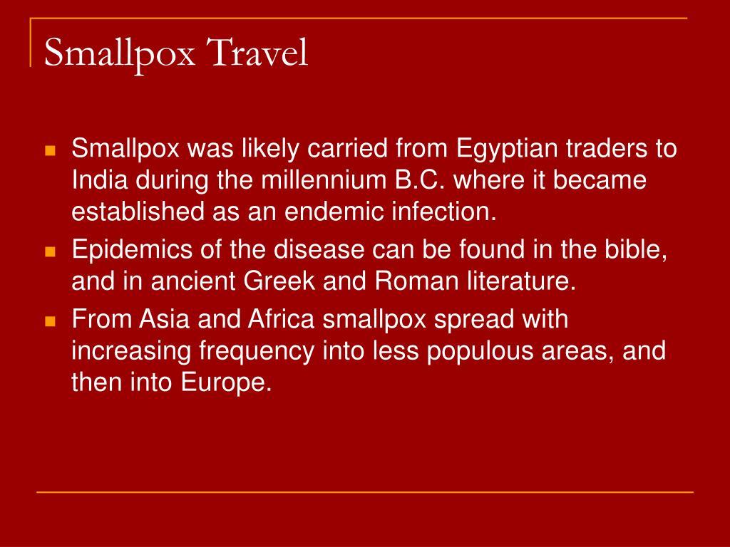 Smallpox Travel